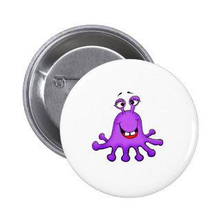 Purple Octopus Monster by Send2smiles 2 Inch Round Button
