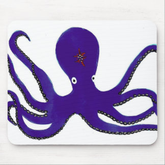 Purple Octopus Mouse Pad
