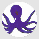 Purple Octopus Stickers