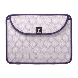Purple ogee stripes pattern background sleeves for MacBook pro