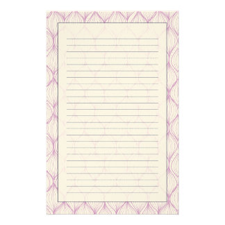 Purple ogee stripes pattern background stationery