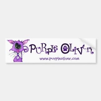 Purple Oliver Bumper Bumper Sticker