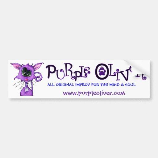Purple Oliver Bumper Bumper Stickers