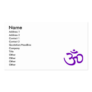 Purple Om or Aum ॐ.png Business Card Template