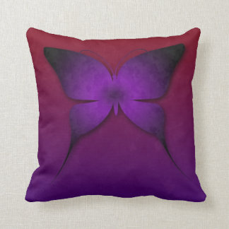 Purple Ombre Butterfly Pillow