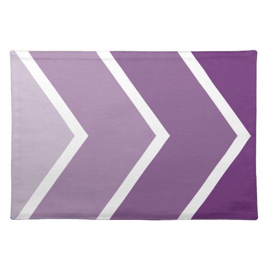 Purple Ombré Chevron Stripes Pattern Cloth Placemat