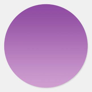 Purple Ombre Classic Round Sticker