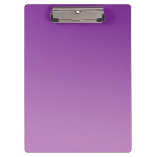 """Purple Ombre"" Clipboard"