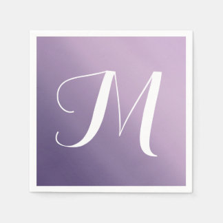 Purple Ombre Fade Monogram Napkin