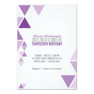 purple ombre GEOMETRIC birthday invitation