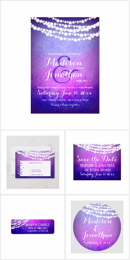 Purple Ombre Hanging Lights Wedding Set
