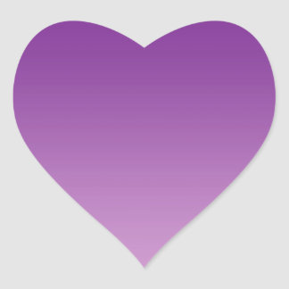Purple Ombre Heart Sticker