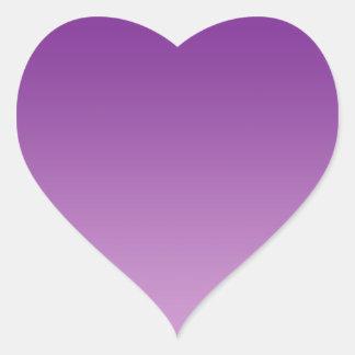 Purple Ombre Heart Sticker