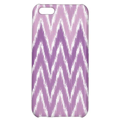 Purple Ombre Ikat Chevron Zig Zag Stripes Pattern Case For iPhone 5C