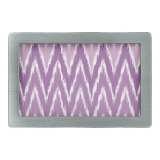 Purple Ombre Ikat Chevron Zig Zag Stripes Pattern Rectangular Belt Buckle