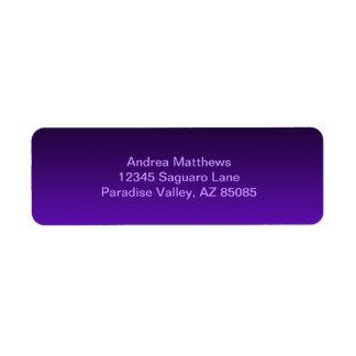 Purple Ombre Label