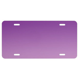 """""""Purple Ombre"""" License Plate"""