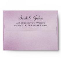 Purple Ombre liner wedding Envelope