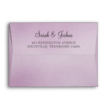 Purple Ombre liner wedding Envelope
