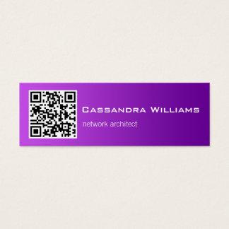 Purple Ombre QR CODE Mini Business Cards