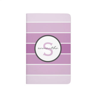 Purple Ombre Stripes Journal