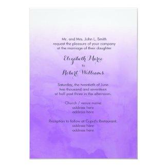 Purple Ombre Watercolor 5x7 Paper Invitation Card