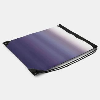 Purple Ombre Watercolor Dip Dyed Color Cinch Bag