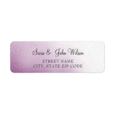 Purple Ombre Wedding address labels