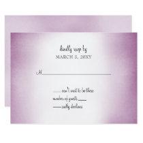 purple ombre wedding invitation rsvp