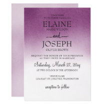 Purple Ombre Wedding Invitations