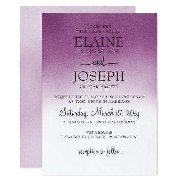 Purple Ombre Wedding Invitations