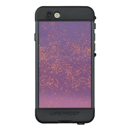 Purple Ombre with Peach Paint Splatter Accents LifeProof NÜÜD iPhone 6s Case