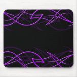 """Purple on Black """"Elegance"""" Mousepad"""