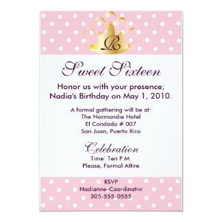 Purple On Pink Monogram S-16 Invitation-Cust. Card
