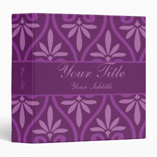Purple on Purple Floral Pattern Binder