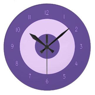 Purple on Purple Wall Clock