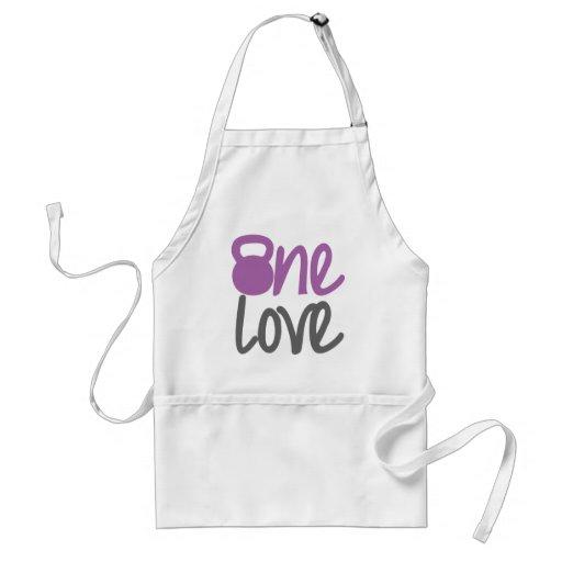 "Purple ""One Love"" Aprons"