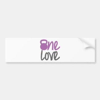 """Purple """"One Love"""" Car Bumper Sticker"""
