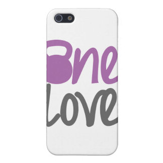 """Purple """"One Love"""" Case For iPhone 5"""