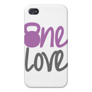 "Purple ""One Love"" iPhone 4/4S Case"