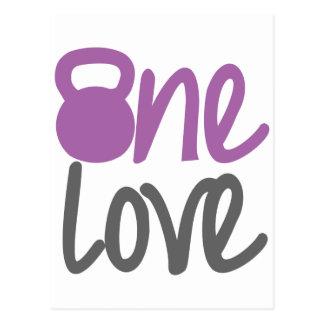 "Purple ""One Love"" Postcard"