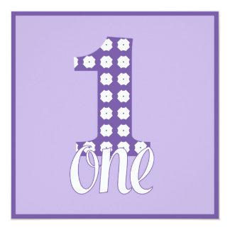 Purple One Party Invitation