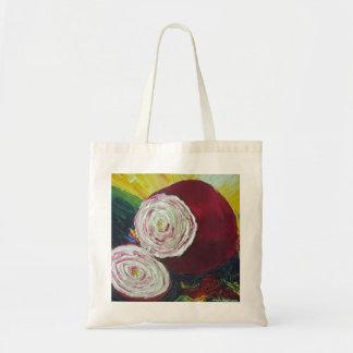 Purple Onion Canvas Tote Bag