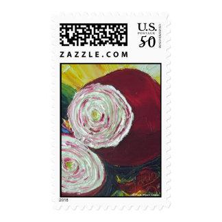 Purple Onion Postage Stamp