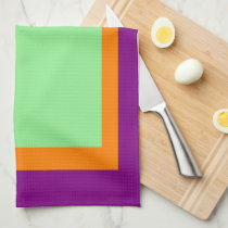 Purple Orange and Light Green Hand Towel