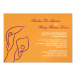 Purple & Orange Calla Lilies Wedding Invitation
