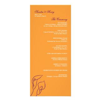 Purple & Orange Calla Lilies Wedding Program Full Color Rack Card