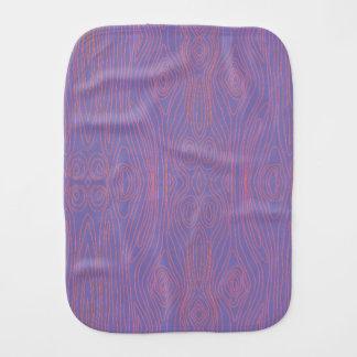 Purple & Orange Faux Bois Burp Cloths
