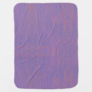 Purple & Orange Faux Bois Swaddle Blankets