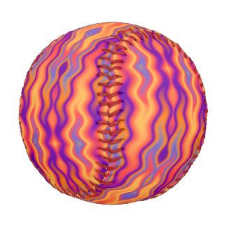 Purple Orange Flames Abstract Baseball
